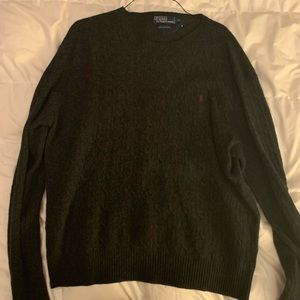 Men's XL Slate Grey Polo lambswool sweater